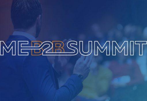 Imagem com o logo do evento ME B2B Summit